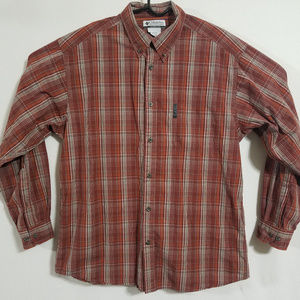 Columbia Mens Large Button Up Casual Dress Shirt